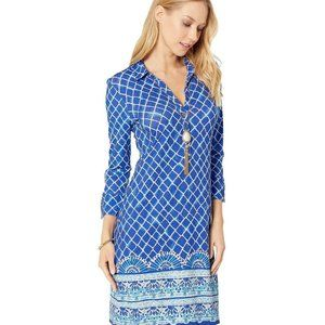 Lilly Pulitzer Ansley Polo Dress Blue Grotto Engin